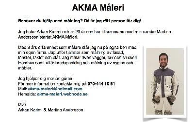 AKMA Måleri - Annonser säljes annonser f7153716a51e0